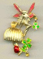 60x44mm GP Fairy/Shamrock Brooch