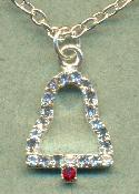 15'' Crystal RS Bell Necklace