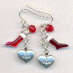 Stocking and Heart Ear Wires