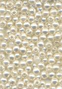 3mm White Acrylic Pearl Beads