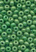 06/0 Opaque Green Luster Seed Beads