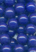 8mm Blue Plastic No Hole Beads