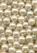 6.5mm Lt Off-White Acrylic No-Hole Pearl