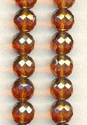 12mm Smoked Topaz Luster Glass Beads