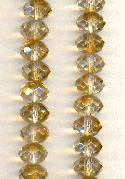 9x6mm Crystal/Topaz Luster Glass Donuts