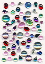 Mixed Lot Acrylic Foil Back Rhinestones