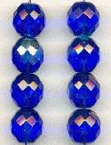 12mm Sapphire AB Glass Beads