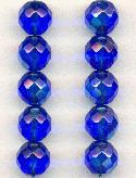10mm Sapphire AB Glass Beads