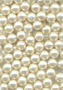 5mm No-Hole White Plastic Pearls