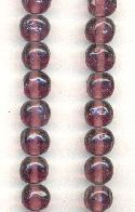 12mm Amethyst Baroque Glass Beads
