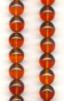 12mm Dark Topaz Glass Beads