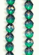 10mm Emerald/Teal 2-Tone Beads