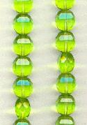 10mm Bright Lime Green Glass Beads