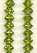 11x8mm Olive AB Faceted Bicones