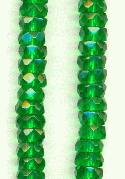 6x3mm Emerald Faceted Rondelles