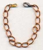 7.5'' Copper Coated Steel Bracelet Chains