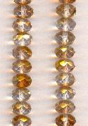 9x6mm Copper/Gold Luster Faceted Beads