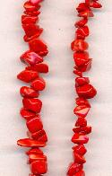 17''-18'' Strand of Red Chip Beads