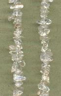 36'' Clear Natural Stone Chip Beads