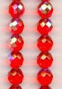 10mm Hyacinth AB Faceted Glass Beads