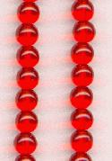 6mm Hyacinth Round Glass Beads