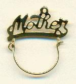30x26mm Gold Plated ''Mother'' Pendant