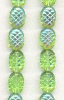 10x8mm Peri/AB Pineapple Textured Ovals