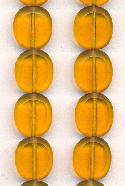 14x12mm Topaz Oval Window Beads