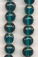 10mm Blue Zircon Round Melon Beads