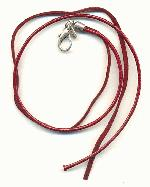 16'' 2-Str Maroon Leather Necklace Cords