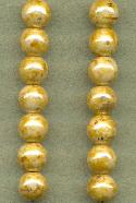 7mm Opaque Beige/Picasso Glass Beads