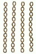 7.25'' Vintage Brass Bracelet Chains
