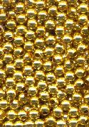 3mm Gold Plated Metal Beads