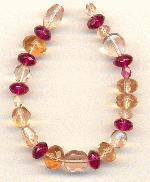 Mixed Faceted Glass Beads - Pink/Purple