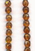 4mm Smoked Topaz AB Faceted Beads