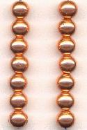 7.5mm MP Copper Colored Beads
