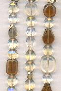 Mixed Faceted Glass Beads - Clear/Sm Top