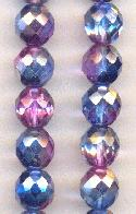 10mm Clear/Amethyst/Sapphire Glass Bead