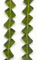12x8mm DK Olive Green Glass Beads