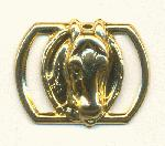 18x22mm Gold Horse Sliders