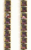 4mm SW Amethyst Square Rhinestone Chain