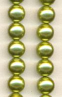 12mm Light Olive Glass Pearls