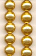12mm Golden Glass Pearls