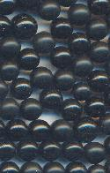 5-6mm Mixed Plastic Black No Hole Beads