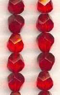 12mm Siam Ruby Fancy Glass Beads