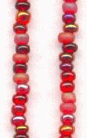 08/0 Mixed Red Seed Beads