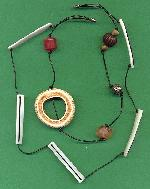 2 Str Cord Necklace Base w/ Shell Beads