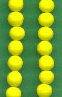 8mm Vintage Japanese Yellow Beads