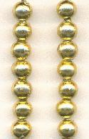 5.8mm Gold Metalized Plastic Beads