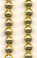 6mm Gold Plastic Beads